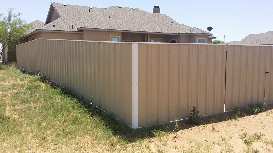 Lubbock metal privacy fence